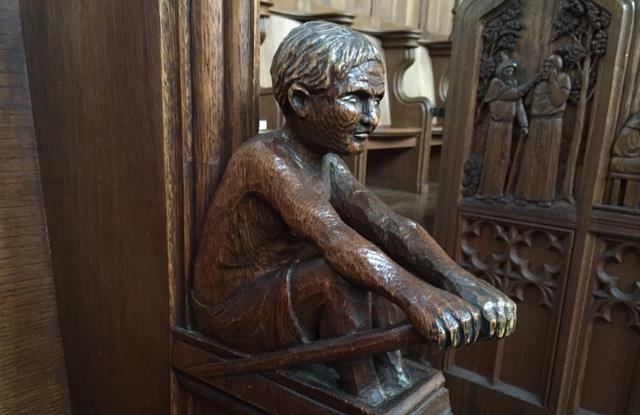 rower carving